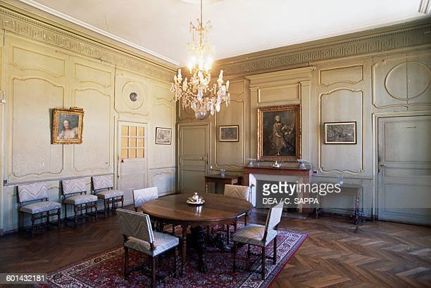 Dining room of the Chateau de Ravel Auvergne France