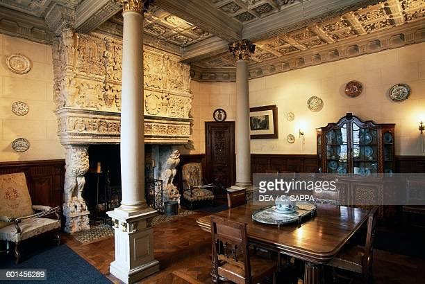 Dining room of the Chateau de TerreNeuve FontenayleComte Loire Valley Pays de la Loire France