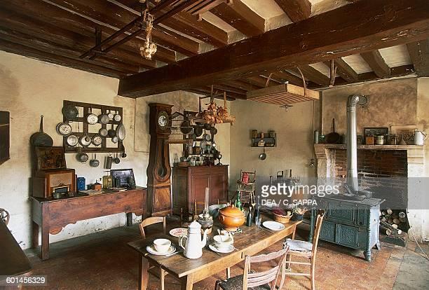 Dining room of the farm Chateau de SaintFargeau Burgundy France