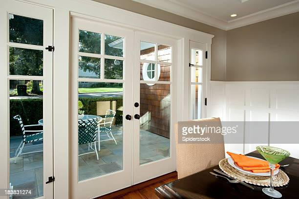 dining room - french doors stock pictures, royalty-free photos & images