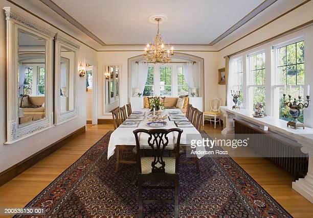dining room - speisezimmer stock-fotos und bilder