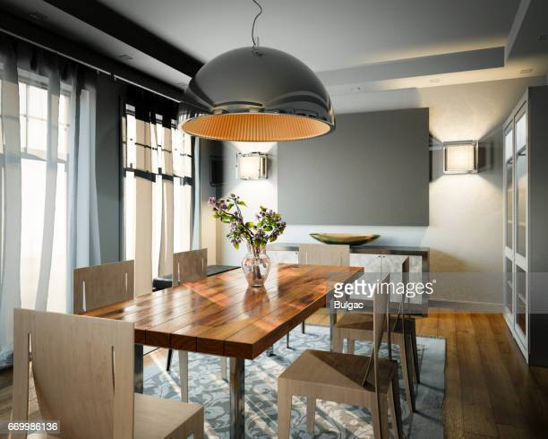 dining room - dining room stock photos and pictures