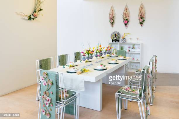 dining room - liyao xie stock pictures, royalty-free photos & images