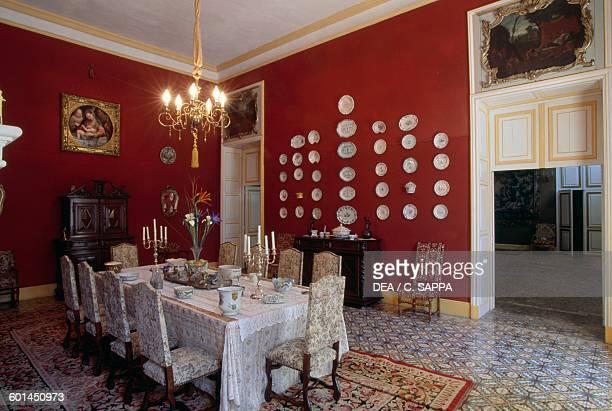 Dining room Sauvan castle ProvenceAlpesCote d'Azur France 18th century
