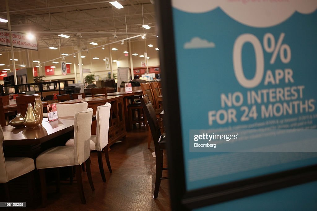 A Dining Room Set Is Displayed For Sale At Conns Inc HomePlus Store In