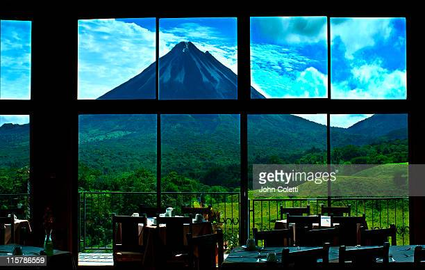 Dining Room View Of The Arenal Volcano