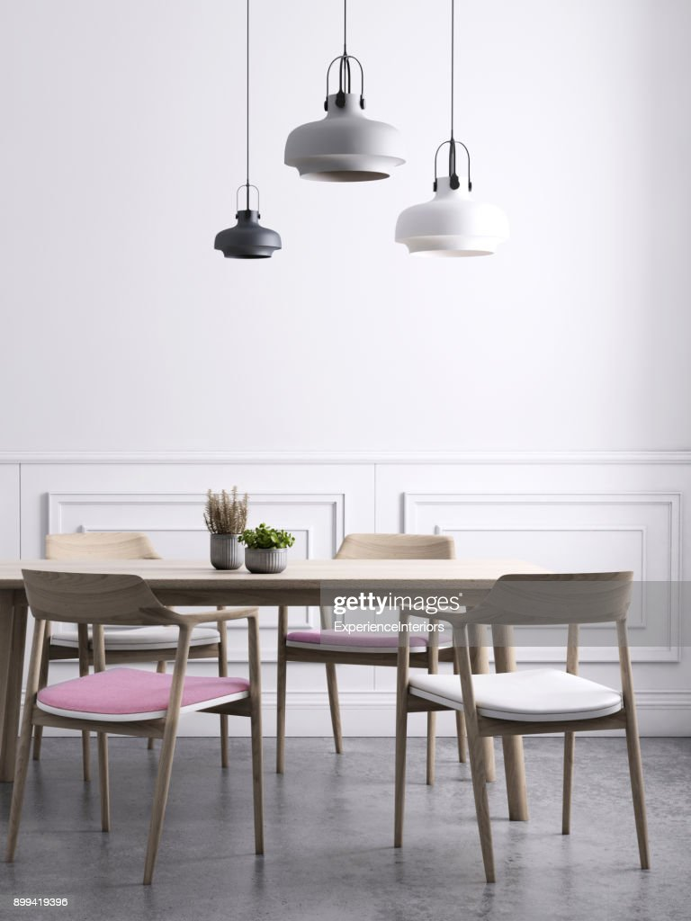Dining room wall background template : Stock Photo