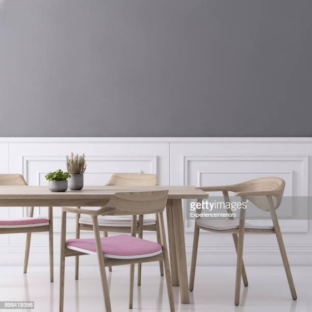 Wandschablone Hintergrund Speisesaal