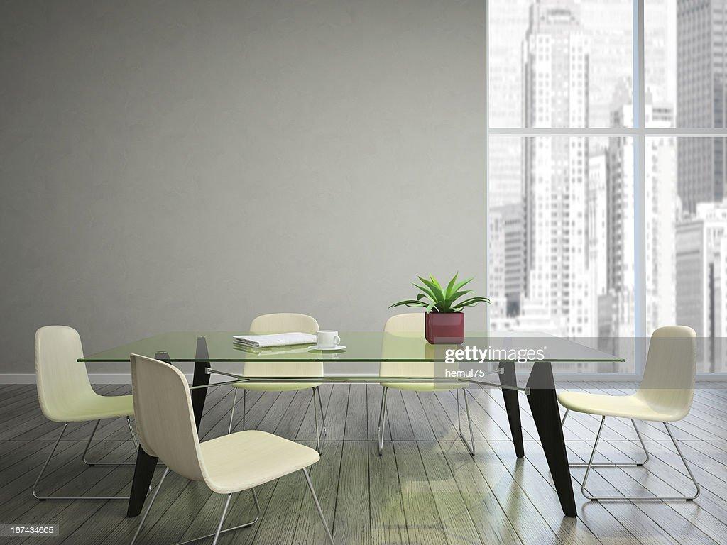Deseo mesa de comedor y sillas : Foto de stock