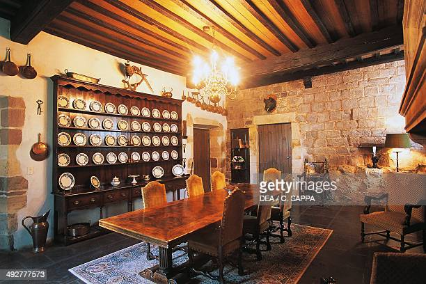 Dining room with large display cabinet Chateau d'Etchauz SaintEtiennedeBaigorry Aquitaine France