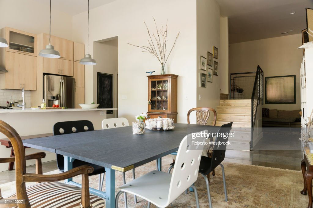 Dining Table And Chairs In Modern Living Space