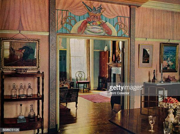 'Dining-room designed by C. Maresco Pearce.', 1941. The dining room of the artist Charles Maresco Pearce 1874-1964. From The Studio Volume 122. [The...