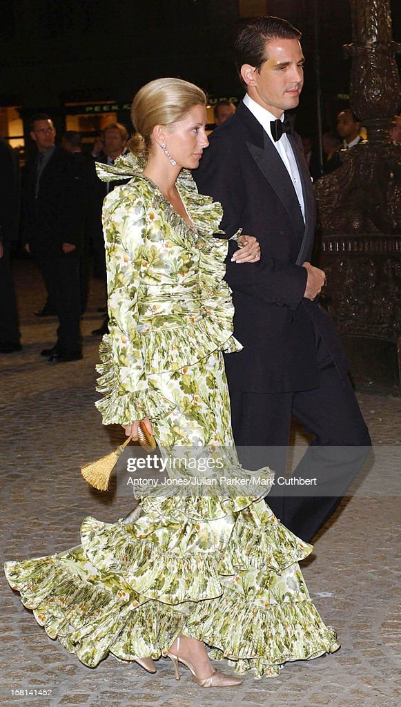 Dinner And Party At The Royal Palace, Amsterdam For The Forthcoming Wedding Of Crown Prince Willem-Alexander & Maxima Zorreguieta. Prince Pavlos & Marie Chantal .