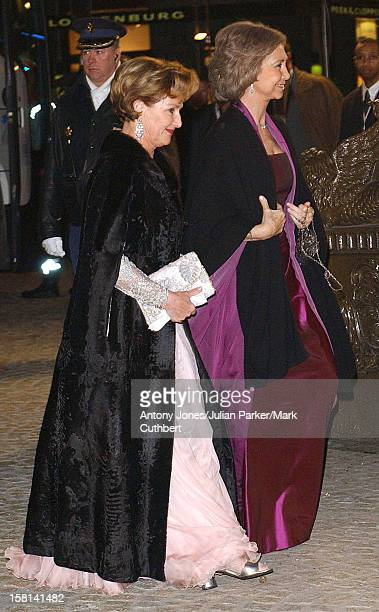 Dinner And Party At The Royal Palace Amsterdam For The Forthcoming Wedding Of Crown Prince WillemAlexander Maxima Zorreguieta The Queen Of Norway...