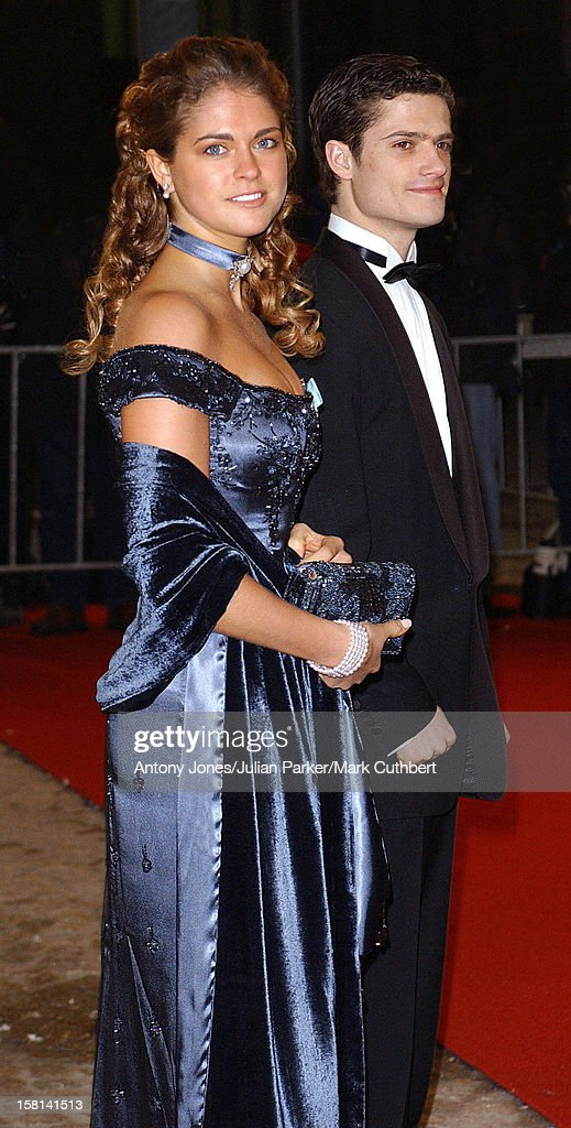 Dinner And Party At The Royal Palace, Amsterdam For The Forthcoming Wedding Of Crown Prince Willem-Alexander & Maxima Zorreguieta. Princess Madeleine & Prince Carl Phillip .
