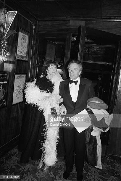 "Dinner at Maxim's restaurant about the piece ""La fille sur la banquette arriere"" In Paris, France In March, 1983 - Jean-Pierre Cassel with Anny..."