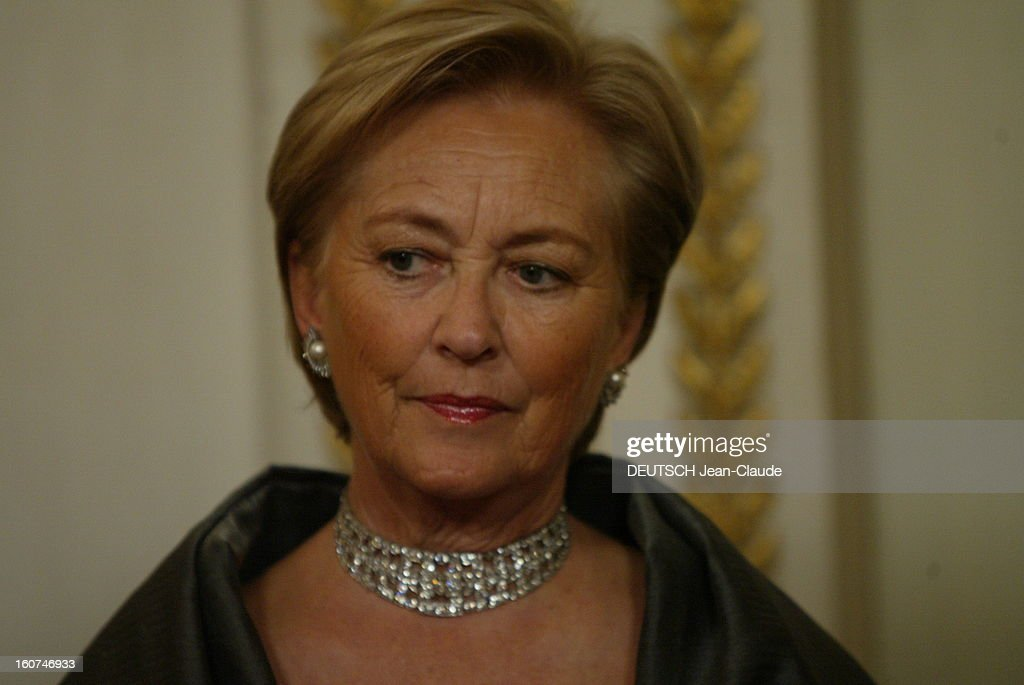 Dinner At The Elysee In Honour Of King Albert Ii And Queen Paola De Belgique : News Photo