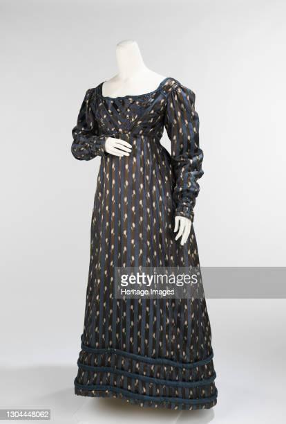 Dinner dress, British, circa 1820. Artist Unknown.