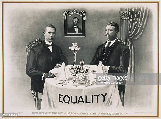 Dinner given at the White House by President Roosevelt to Booker T Washington October 17th 1901