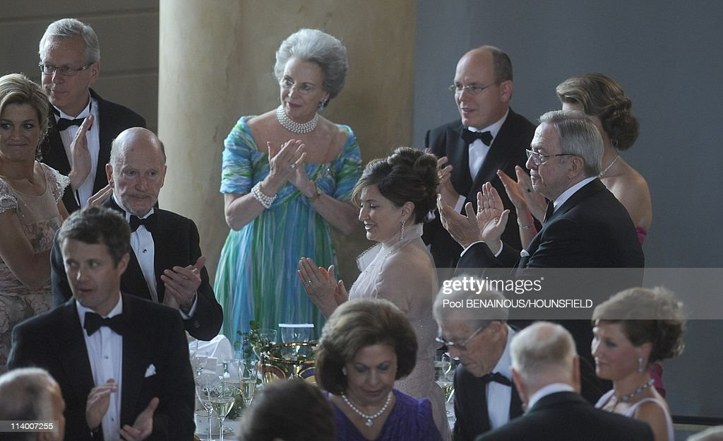 Dinner Hosted by the government of Sweden in honnor of the wedding of Princess Victoria In Stockholm, Sweden On June 18, 2010- : News Photo