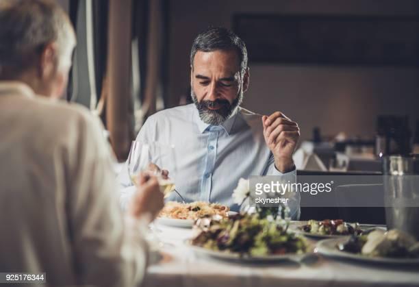 Abendessen in einem Restaurant!