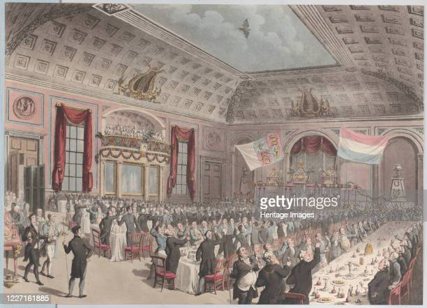 Dinner in Celebration of the Emancipation of Holland from France City of London Tavern Bishopsgate December 14 1814 Artist Unknown
