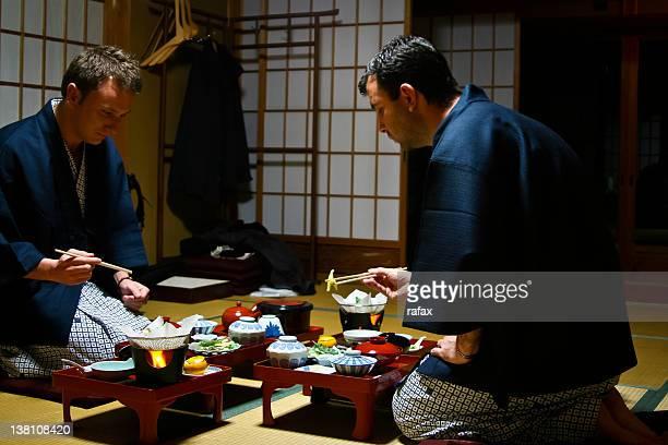 dinner in temple in koya-san - koyasan stock-fotos und bilder