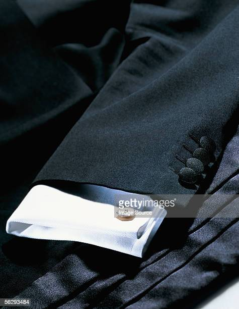dinner jacket and shirt - カフス ストックフォトと画像