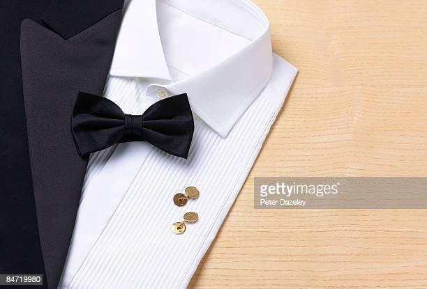 Dinner Jacket, shirt and black tie
