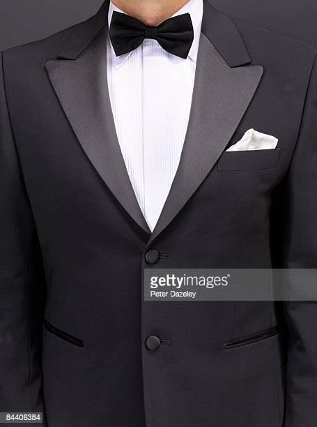 dinner jacket/ tuxedo - strikje stockfoto's en -beelden