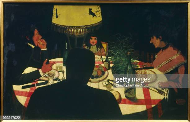 Dinner lamp effect Vallotton Felix Orsay Museum France