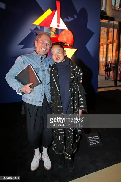 Dinner of the Societe des Amis to celebrate the Pompidou Museum's 40th year April 25 2017 Jean Paul Goude and his wife Karen