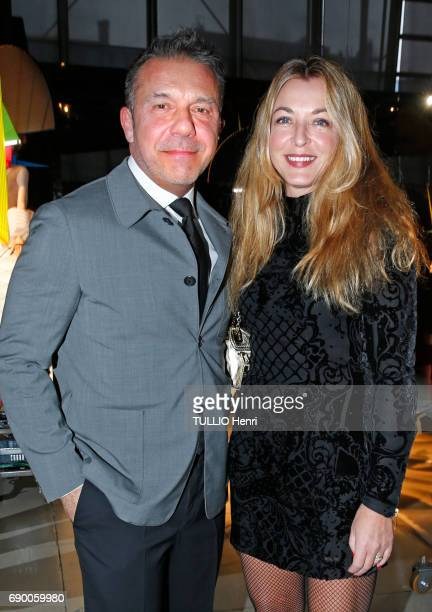 Dinner of the Societe des Amis to celebrate the Pompidou Museum's 40th year April 25 2017 Olivier WidmaierPicasso and Arabelle ReilleMahdavi