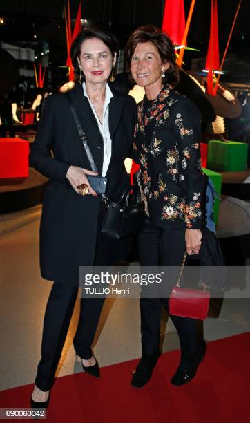 Dinner of the Societe des Amis to celebrate the Pompidou Museum's 40th year April 25 2017 Dayle Haddon and Sylvie Rousseau