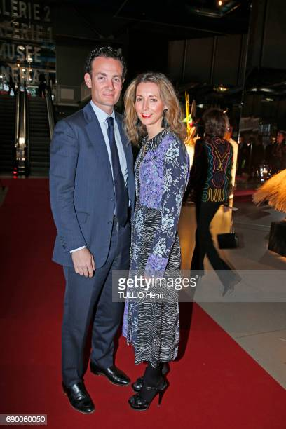 Dinner of the Societe des Amis to celebrate the Pompidou Museum's 40th year April 25 2017 Alexandre et Olivia De Rothschild
