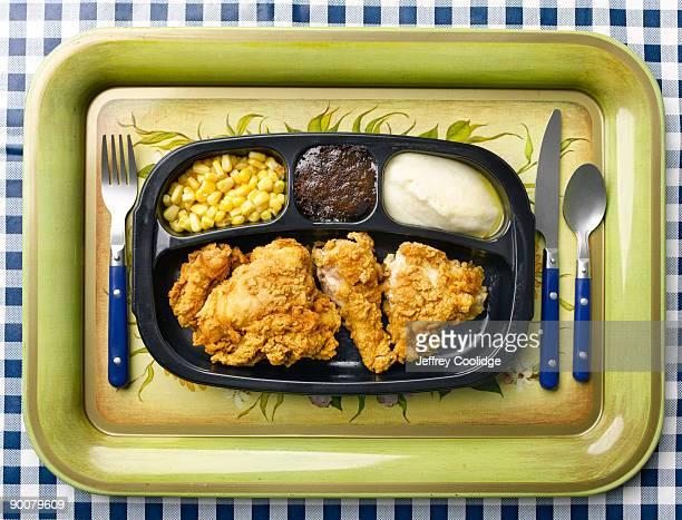 TV Dinner on Retro Tray