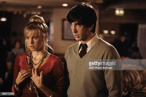 """Dinner Out"""" 12/4/91 Olivia d'Abo, David Schwimmer"""