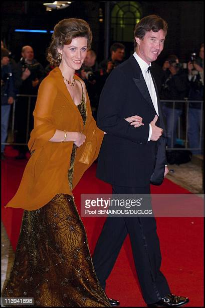 Dinner party and ball to celebrate Queen Beatrix of the Netherland's birthday In Amsterdam Netherlands On January 31 2002Jean of Luxembourg with his...