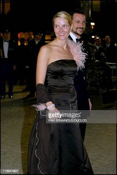 Dinner party and ball to celebrate Queen Beatrix of the Netherland's birthday In Amsterdam Netherlands On January 31 2002Prince Haakon of Norway with...