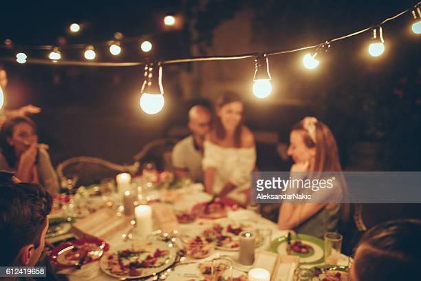 Abendessen-party