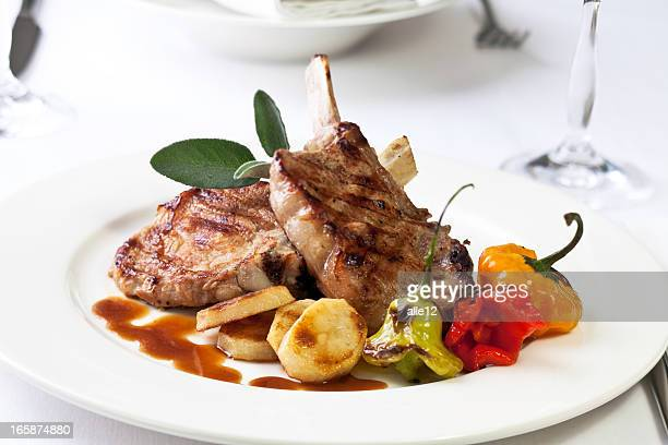 dinner - chop stock pictures, royalty-free photos & images