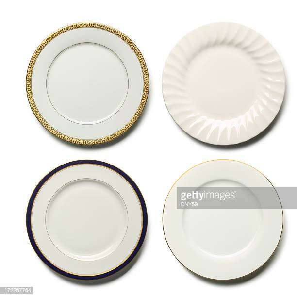 dinner plates - ornate stock pictures, royalty-free photos & images