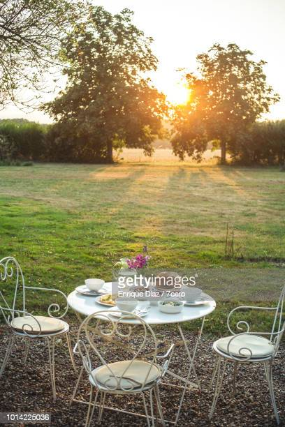 Dinner Table at Sunset, Loire Valley
