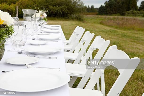 Abendessen in einem ländlichen Gebiet