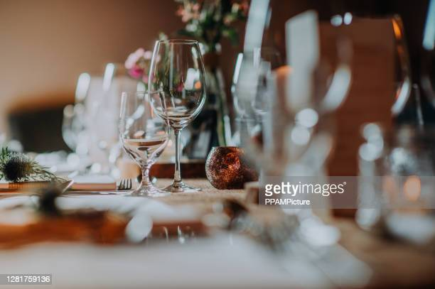 dinner table - spread stock pictures, royalty-free photos & images