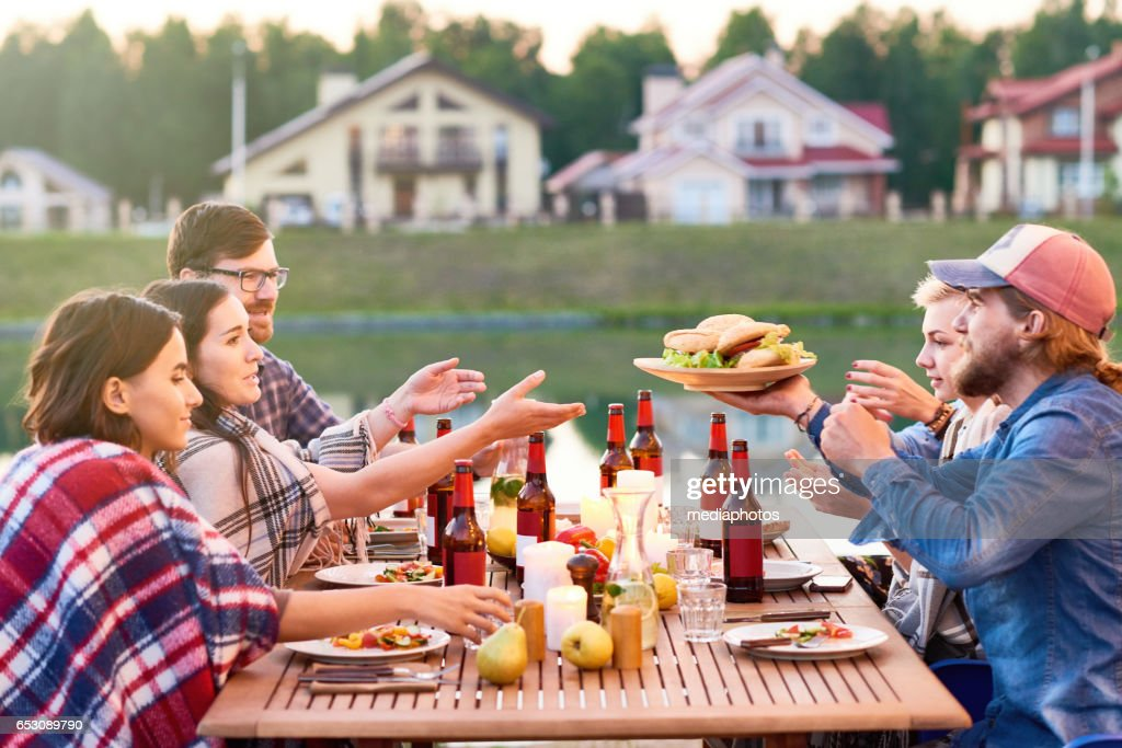 Dinner with friends : Stock Photo