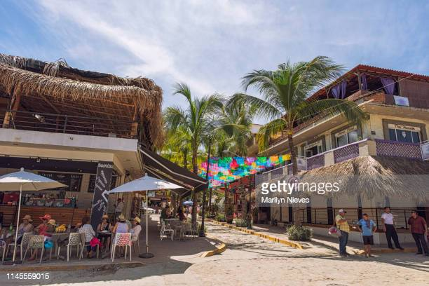 dinning and shopping in sayulita, mexico - jalisco state stock pictures, royalty-free photos & images