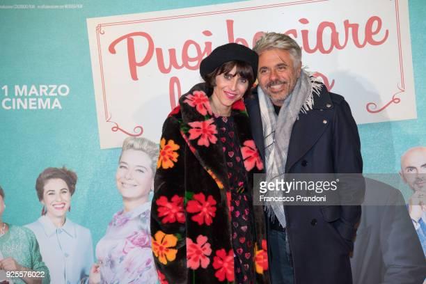 Dino Abbrescia and Dino Abbrescia attend a photocall for 'Puoi Baciare Lo Sposo' on February 28 2018 in Milan Italy