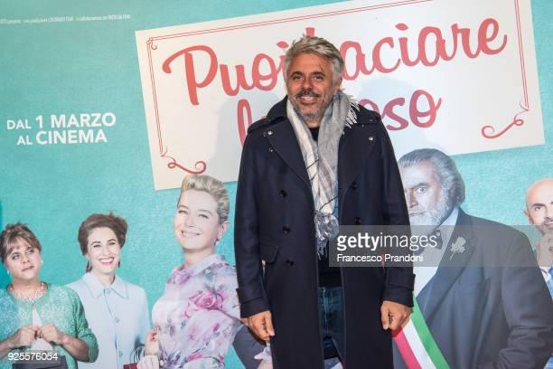 Dino Abbrescia attends a photocall for 'Puoi Baciare Lo Sposo' on February 28 2018 in Milan Italy
