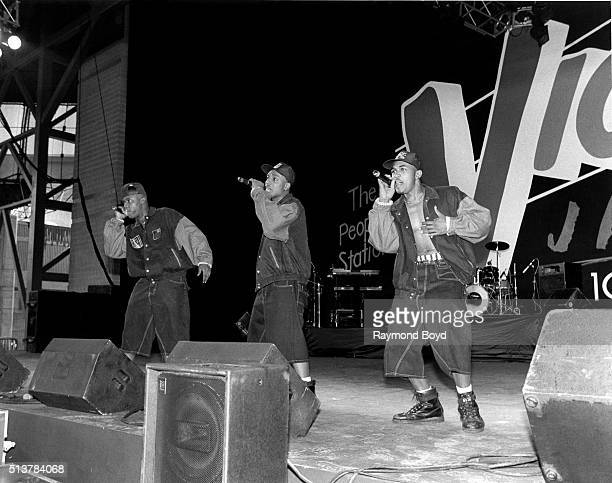 I Dino and Shazam from HTown performs at the Marcus Amphitheatre in Milwaukee Wisconsin in 1995
